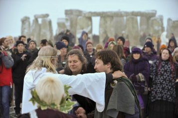 Pans and Druids at Stonehenge