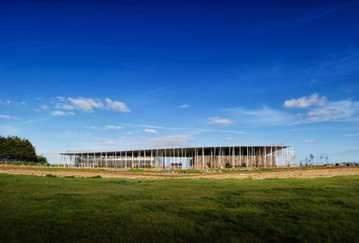 The front elevation of the new visitor centre at Stonehenge -