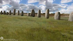 A new line of stones has been found under Durrington Walls super-henge