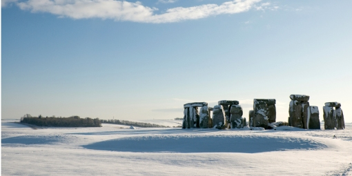 Stonehenge Winter Snow Scen
